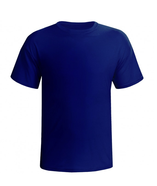 6356686f565ba Camisa Malha Manga Curta Azul